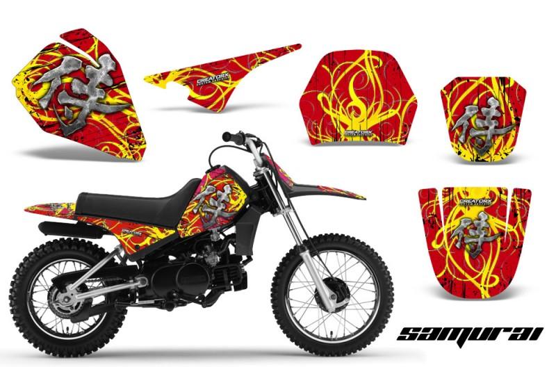 Yamaha-PW80-CreatorX-Graphics-Kit-Samurai-Yellow-Red