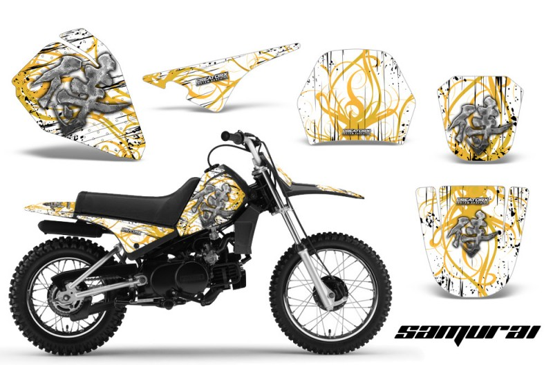 Yamaha-PW80-CreatorX-Graphics-Kit-Samurai-Yellow-White