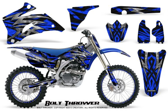 Yamaha YZ 250F 450F 06 09 CreatorX Graphics Kit Bolt Thrower Blue NP Rims 570x376 - Yamaha YZ250F/YZ450F 2006-2009 4 Stroke Graphics