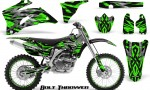 Yamaha YZ 250F 450F 06 09 CreatorX Graphics Kit Bolt Thrower Green NP Rims 150x90 - Yamaha YZ250F/YZ450F 2006-2009 4 Stroke Graphics