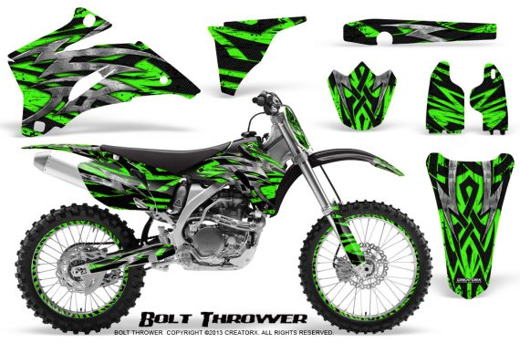 Yamaha YZ 250F 450F 06 09 CreatorX Graphics Kit Bolt Thrower Green NP Rims 570x376 - Yamaha YZ250F/YZ450F 2006-2009 4 Stroke Graphics