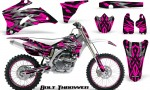 Yamaha YZ 250F 450F 06 09 CreatorX Graphics Kit Bolt Thrower Pink NP Rims 150x90 - Yamaha YZ250F/YZ450F 2006-2009 4 Stroke Graphics