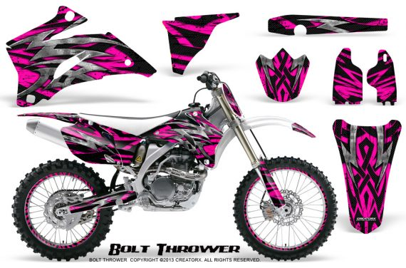 Yamaha YZ 250F 450F 06 09 CreatorX Graphics Kit Bolt Thrower Pink NP Rims 570x376 - Yamaha YZ250F/YZ450F 2006-2009 4 Stroke Graphics