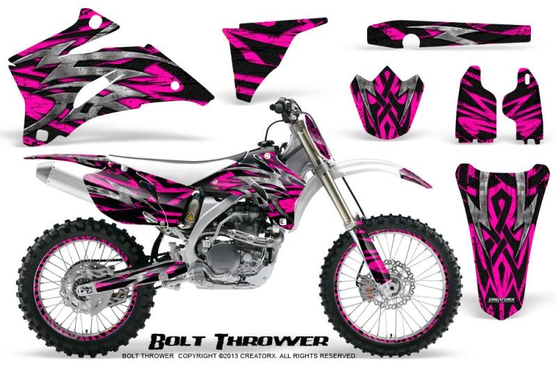Yamaha-YZ-250F-450F-06-09-CreatorX-Graphics-Kit-Bolt-Thrower-Pink-NP-Rims
