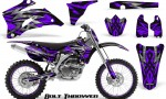 Yamaha YZ 250F 450F 06 09 CreatorX Graphics Kit Bolt Thrower Purple NP Rims 150x90 - Yamaha YZ250F/YZ450F 2006-2009 4 Stroke Graphics