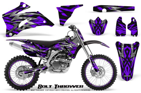 Yamaha YZ 250F 450F 06 09 CreatorX Graphics Kit Bolt Thrower Purple NP Rims 570x376 - Yamaha YZ250F/YZ450F 2006-2009 4 Stroke Graphics