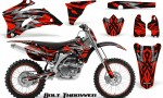 Yamaha YZ 250F 450F 06 09 CreatorX Graphics Kit Bolt Thrower Red NP Rims 150x90 - Yamaha YZ250F/YZ450F 2006-2009 4 Stroke Graphics