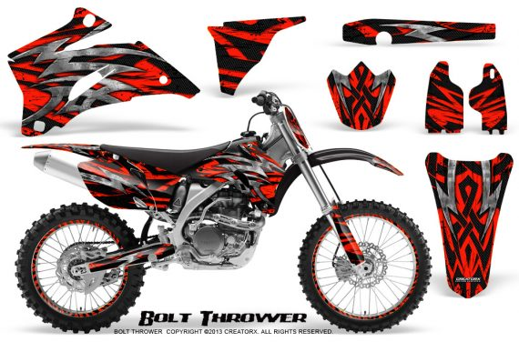 Yamaha YZ 250F 450F 06 09 CreatorX Graphics Kit Bolt Thrower Red NP Rims 570x376 - Yamaha YZ250F/YZ450F 2006-2009 4 Stroke Graphics