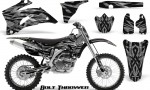 Yamaha YZ 250F 450F 06 09 CreatorX Graphics Kit Bolt Thrower Silver NP Rims 150x90 - Yamaha YZ250F/YZ450F 2006-2009 4 Stroke Graphics