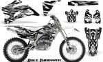 Yamaha YZ 250F 450F 06 09 CreatorX Graphics Kit Bolt Thrower White NP Rims 150x90 - Yamaha YZ250F/YZ450F 2006-2009 4 Stroke Graphics