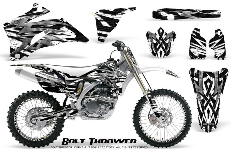 Yamaha-YZ-250F-450F-06-09-CreatorX-Graphics-Kit-Bolt-Thrower-White-NP-Rims