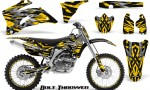 Yamaha YZ 250F 450F 06 09 CreatorX Graphics Kit Bolt Thrower Yellow NP Rims 150x90 - Yamaha YZ250F/YZ450F 2006-2009 4 Stroke Graphics