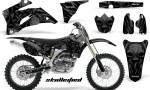 Yamaha YZ 250F 450F 06 09 CreatorX Graphics Kit Skullcified Black NP Rims Black 150x90 - Yamaha YZ250F/YZ450F 2006-2009 4 Stroke Graphics