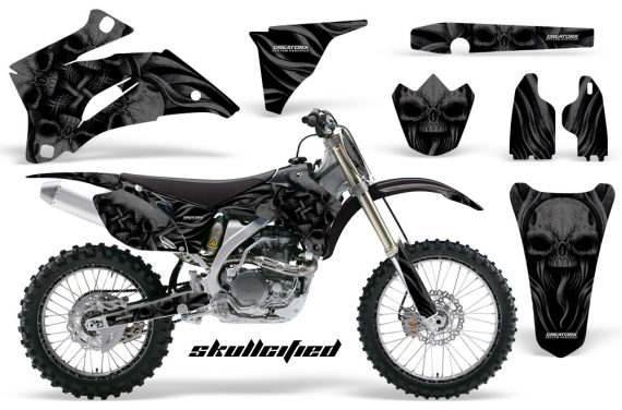Yamaha YZ 250F 450F 06 09 CreatorX Graphics Kit Skullcified Black NP Rims Black 570x376 - Yamaha YZ250F/YZ450F 2006-2009 4 Stroke Graphics