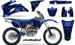 Yamaha YZ 250F 450F 06 09 CreatorX Graphics Kit Skullcified Blue Flat NP Rims Blue 150x90 - Yamaha YZ250F/YZ450F 2006-2009 4 Stroke Graphics