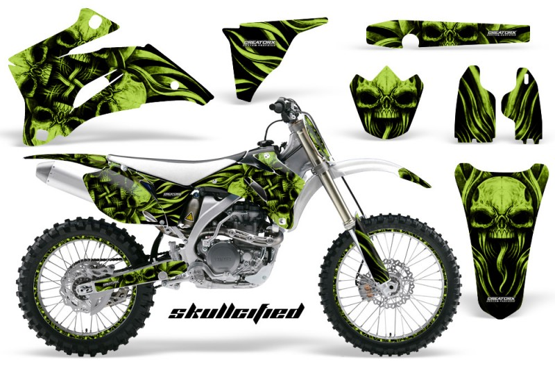 Yamaha-YZ-250F-450F-06-09-CreatorX-Graphics-Kit-Skullcified-Green-NP-Rims-White