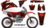 Yamaha YZ 250F 450F 06 09 CreatorX Graphics Kit Skullcified Red Flat NP Rims Red 150x90 - Yamaha YZ250F/YZ450F 2006-2009 4 Stroke Graphics