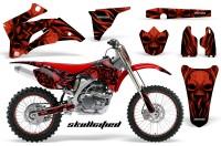 Yamaha-YZ-250F-450F-06-09-CreatorX-Graphics-Kit-Skullcified-Red-Flat-NP-Rims-Red