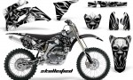 Yamaha YZ 250F 450F 06 09 CreatorX Graphics Kit Skullcified Silver NP Rims Black 150x90 - Yamaha YZ250F/YZ450F 2006-2009 4 Stroke Graphics
