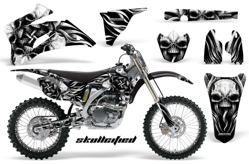 Yamaha-YZ-250F-450F-06-09-CreatorX-Graphics-Kit-Skullcified-Silver-NP-Rims-Black