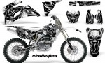 Yamaha YZ 250F 450F 06 09 CreatorX Graphics Kit Skullcified Silver NP Rims White 150x90 - Yamaha YZ250F/YZ450F 2006-2009 4 Stroke Graphics