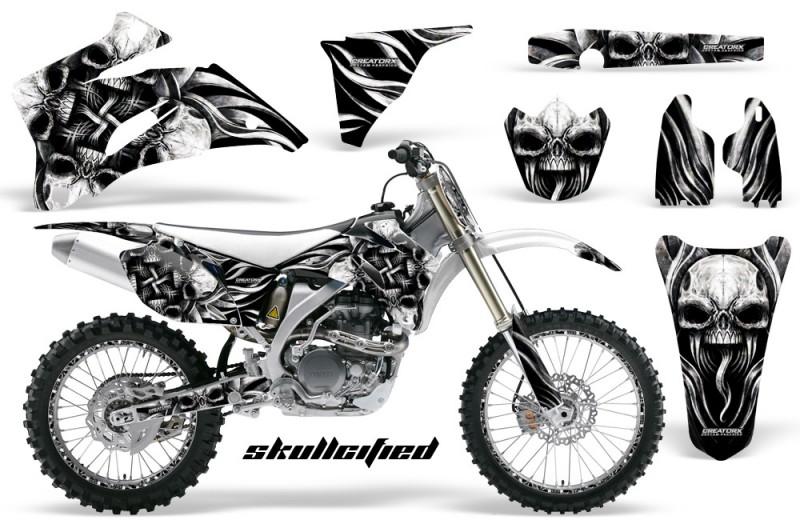 Yamaha-YZ-250F-450F-06-09-CreatorX-Graphics-Kit-Skullcified-Silver-NP-Rims-White
