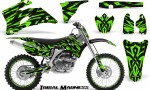 Yamaha YZ 250F 450F 06 09 CreatorX Graphics Kit Tribal Madness Green NP Rims 150x90 - Yamaha YZ250F/YZ450F 2006-2009 4 Stroke Graphics