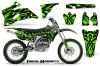 Yamaha-YZ-250F-450F-06-09-CreatorX-Graphics-Kit-Tribal-Madness-Green-NP-Rims