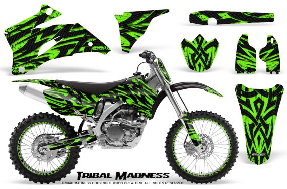 Yamaha YZ 250F 450F 06 09 CreatorX Graphics Kit Tribal Madness Green NP Rims 570x376 - Yamaha YZ250F/YZ450F 2006-2009 4 Stroke Graphics
