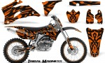 Yamaha YZ 250F 450F 06 09 CreatorX Graphics Kit Tribal Madness Orange NP Rims 150x90 - Yamaha YZ250F/YZ450F 2006-2009 4 Stroke Graphics
