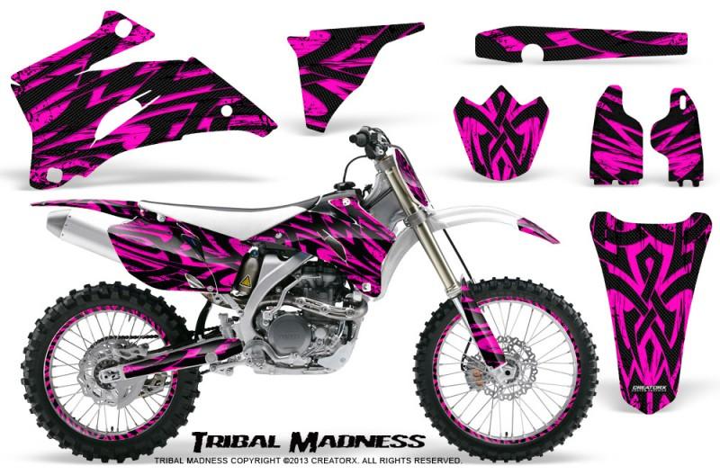 Yamaha-YZ-250F-450F-06-09-CreatorX-Graphics-Kit-Tribal-Madness-Pink-NP-Rims