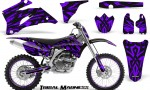 Yamaha YZ 250F 450F 06 09 CreatorX Graphics Kit Tribal Madness Purple NP Rims 150x90 - Yamaha YZ250F/YZ450F 2006-2009 4 Stroke Graphics