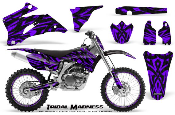 Yamaha YZ 250F 450F 06 09 CreatorX Graphics Kit Tribal Madness Purple NP Rims 570x376 - Yamaha YZ250F/YZ450F 2006-2009 4 Stroke Graphics