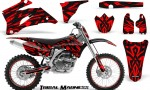 Yamaha YZ 250F 450F 06 09 CreatorX Graphics Kit Tribal Madness Red NP Rims 150x90 - Yamaha YZ250F/YZ450F 2006-2009 4 Stroke Graphics