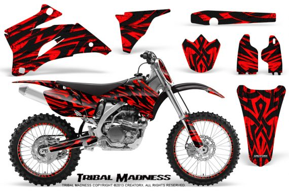 Yamaha YZ 250F 450F 06 09 CreatorX Graphics Kit Tribal Madness Red NP Rims 570x376 - Yamaha YZ250F/YZ450F 2006-2009 4 Stroke Graphics