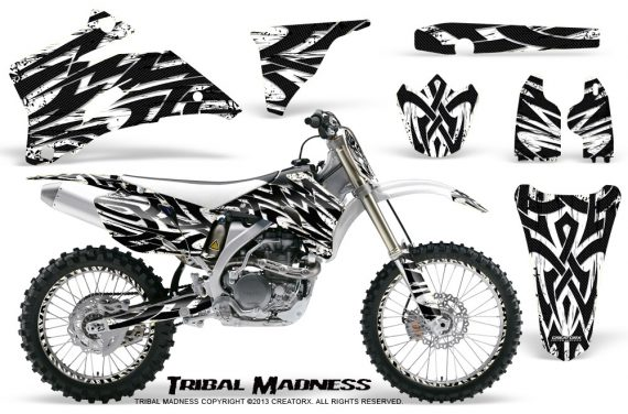 Yamaha YZ 250F 450F 06 09 CreatorX Graphics Kit Tribal Madness White NP Rims 570x376 - Yamaha YZ250F/YZ450F 2006-2009 4 Stroke Graphics