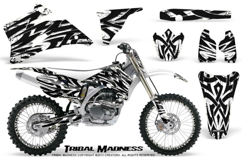 Yamaha-YZ-250F-450F-06-09-CreatorX-Graphics-Kit-Tribal-Madness-White-NP-Rims