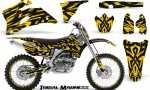Yamaha YZ 250F 450F 06 09 CreatorX Graphics Kit Tribal Madness Yellow NP Rims 150x90 - Yamaha YZ250F/YZ450F 2006-2009 4 Stroke Graphics