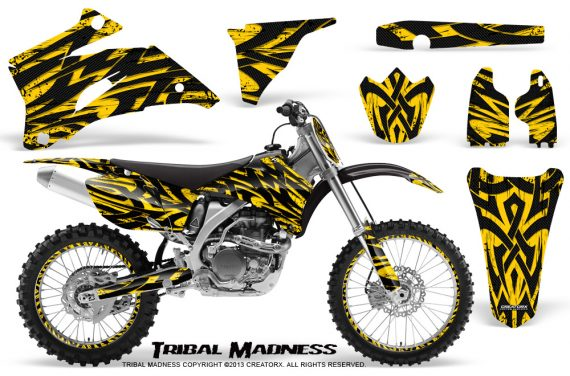 Yamaha YZ 250F 450F 06 09 CreatorX Graphics Kit Tribal Madness Yellow NP Rims 570x376 - Yamaha YZ250F/YZ450F 2006-2009 4 Stroke Graphics