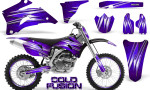 Yamaha YZ 250F 450F 06 09 Graphics Kit Cold Fusion Purple NP Rims 150x90 - Yamaha YZ250F/YZ450F 2006-2009 4 Stroke Graphics