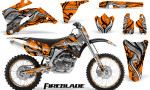 Yamaha YZ 250F 450F 06 09 Graphics Kit Fireblade Orange NP Rims 150x90 - Yamaha YZ250F/YZ450F 2006-2009 4 Stroke Graphics
