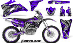 Yamaha YZ 250F 450F 06 09 Graphics Kit Fireblade Purple NP Rims 150x90 - Yamaha YZ250F/YZ450F 2006-2009 4 Stroke Graphics