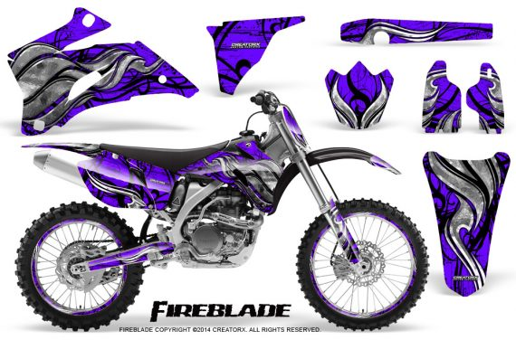 Yamaha YZ 250F 450F 06 09 Graphics Kit Fireblade Purple NP Rims 570x376 - Yamaha YZ250F/YZ450F 2006-2009 4 Stroke Graphics