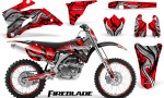 Yamaha YZ 250F 450F 06 09 Graphics Kit Fireblade Red NP Rims 150x90 - Yamaha YZ250F/YZ450F 2006-2009 4 Stroke Graphics