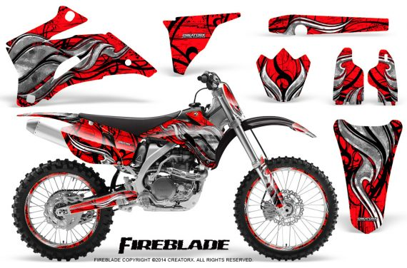 Yamaha YZ 250F 450F 06 09 Graphics Kit Fireblade Red NP Rims 570x376 - Yamaha YZ250F/YZ450F 2006-2009 4 Stroke Graphics