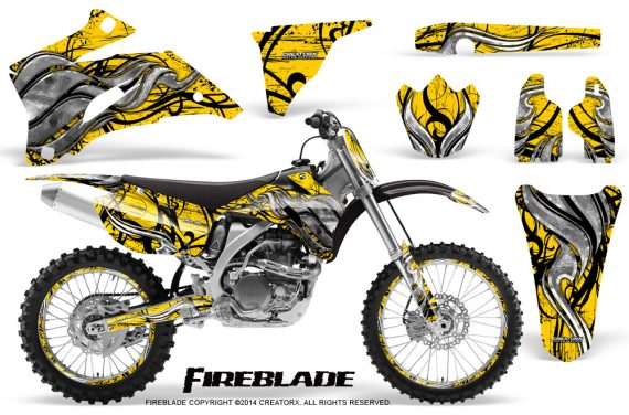 Yamaha YZ 250F 450F 06 09 Graphics Kit Fireblade Yellow NP Rims 570x376 - Yamaha YZ250F/YZ450F 2006-2009 4 Stroke Graphics