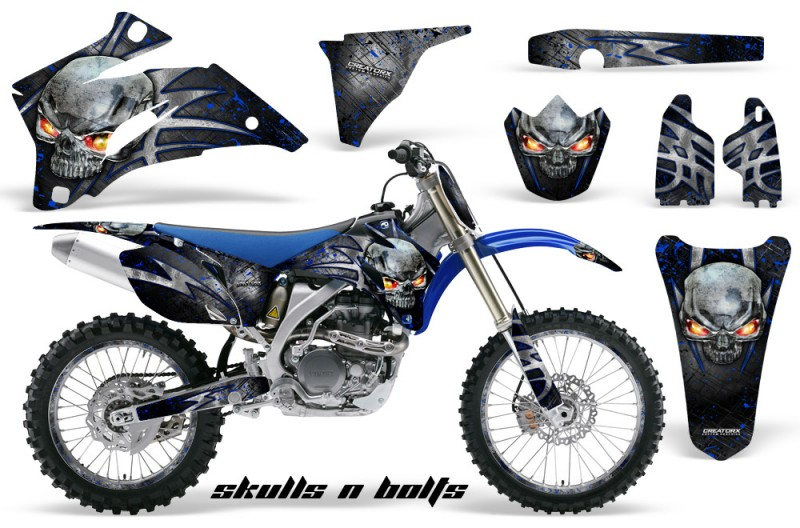 Yamaha-YZ-250F-450F-06-09-Skulls-n-Bolts-Metal-Blue-BLB-NP-Rims