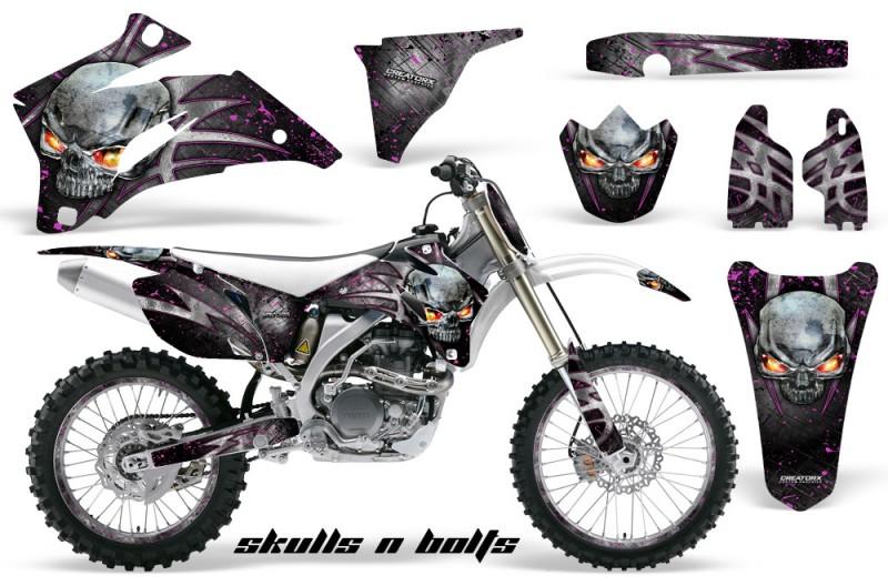 Yamaha-YZ-250F-450F-06-09-Skulls-n-Bolts-Metal-Pink-WB-NP-Rims
