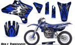 Yamaha YZ250 YZ450 03 05 WR250 WR450 05 06 CreatorX Graphics Kit Bolt Thrower Blue NP Rims 150x90 - Yamaha YZ250F/YZ450F 4 Stroke 2003-2005 Graphics