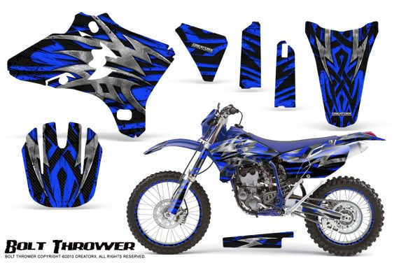 Yamaha YZ250 YZ450 03 05 WR250 WR450 05 06 CreatorX Graphics Kit Bolt Thrower Blue NP Rims 570x376 - Yamaha YZ250F/YZ450F 4 Stroke 2003-2005 Graphics